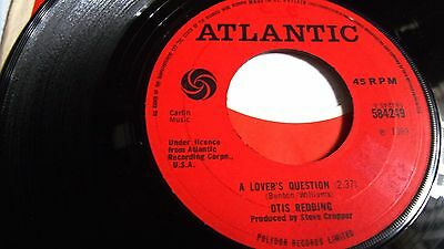 ATLANTIC SOUL OTIS REDDING YOU MADE A MAN OUT OF ME c/w A LOVERS QUESTION 1969
