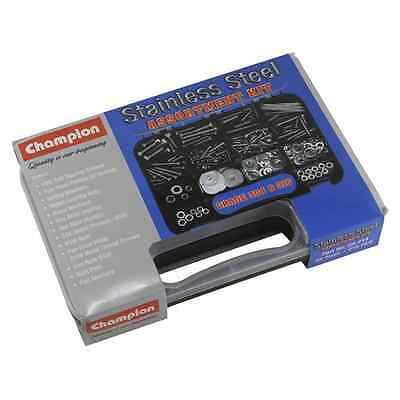 Champion 210Pc Stainless Steel Fasteners Assortment Kit 52 Sizes with Carry Case