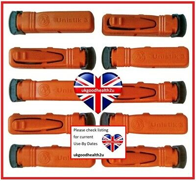 Unistik 3 EXTRA Orange Lancets x10 Blood Glucose Finger Pricker DIABETES CE