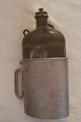 Military army flask water container Swiss France after WWII