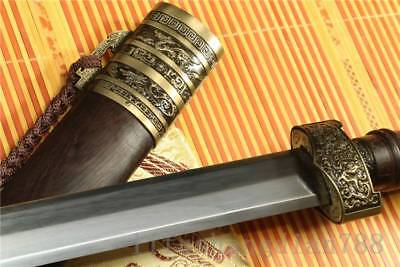 1095 Carbon Steel Blade Handmade Rosewood Chinese Wo Long Sword