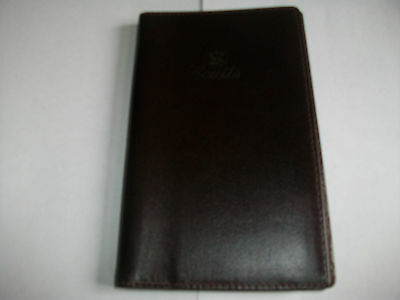 Coutts Bank Leather Address Book or Diary Cover with Pen Free P+P