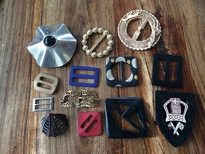 collection of vintage buckles
