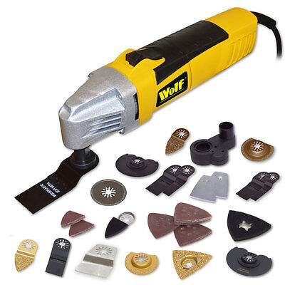 Wolf  260w Combo Tool Plus & Extra Accessories Multi Function Tool Oscillating