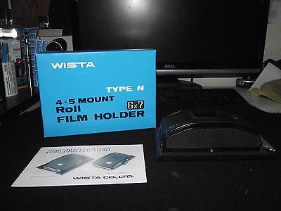Wista 4X5 Mount Roll Film Holder,type N, 6X7   Mint Boxed!!!!!!