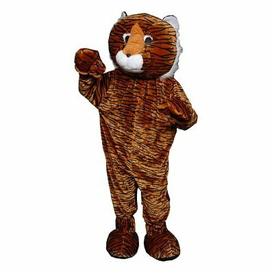 DRES-354ADULT-Dress Up America Tiger Mascot Costume Set - Adult (one size fits