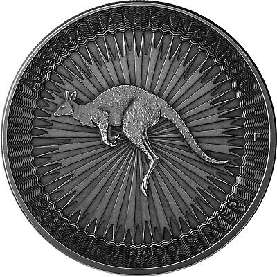 Australien 1 Dollar Silber 2017 Silbermünze Känguru in Antique Finish 1 Oz