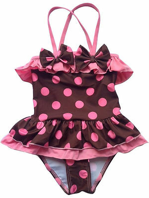 2PC Kids Toddler Girls Bikini Swimwear Polka Dot Swimsuit Baby Swim Suits 17006