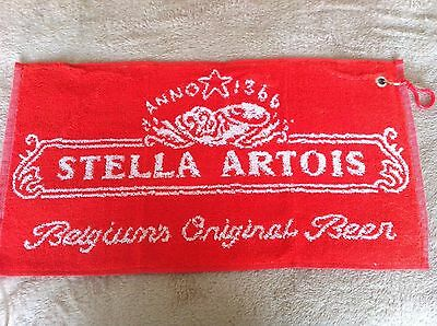New Stella Artois Golf,bowls,fishing,camping Towel Clips To Bag 19 X 9 Inches