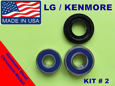 FRONT LOAD WASHER,2 TUB BEARINGS AND SEAL, LG,Kenmore, KIT # 2 (4036er2004a)