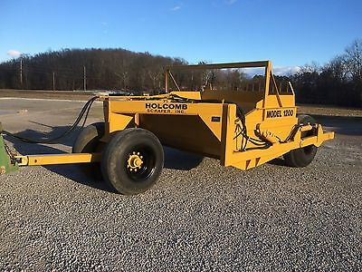 HOLCOMB model 1200 12 yard ejector dirt scoop, scraper, pan, bucket