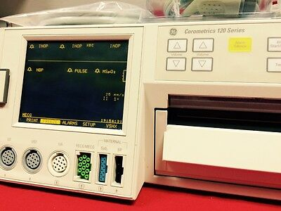 GE Corometrics 120 Series Fetal Monitor  patient monitor with Toco US transducer