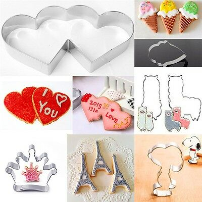 38 Styles Stainless Steel Cake Biscuit Cookie Cutter Mold DIY Baking Pastry Tool