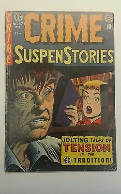 Crime Suspenstories #27 Last Issue, Ec, 1955, Jolting Tales Of Tension!!