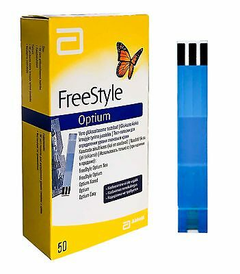 Abbot Freestyle Optium Plus Blood Glucose 50 Test Strips No Coding