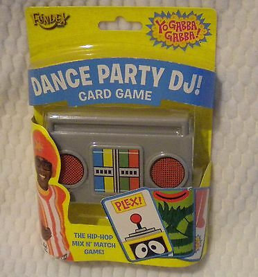 NEW 2009 Yo Gabba Gabba Uno DANCE PARTY DJ Game RARE!!! FUNDEX DJ LANCE