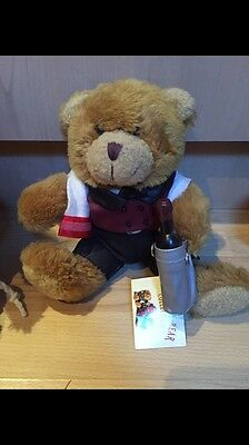 The Teddy Bear Collection. Walter The Wine Waiter. Soft Toy. Number 37