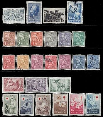 1953 1954 Finland Year + Tuberculosis + Red Cross Sct. 309 -324,b120 To B128