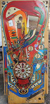 Williams Funhouse pinball Playfield. Cool Vintage artwork or restoration!