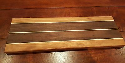 Butcher Block Cutting Board/Cheese serving plate solid wood unique long