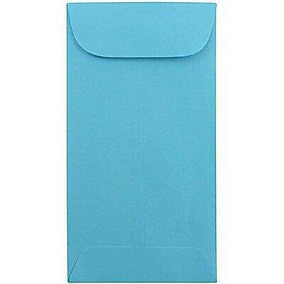 """JAM Paper #7 Coin Envelope 3.5"""" x 6.5"""" Brite Hue Blue Recycled 