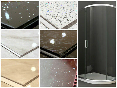 Shower Wall Panel Kit - PVC Wall Panels 1000mm Wide 2.6m High, 2m Coverage