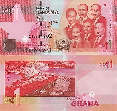 Ghana 1 Cedi (01.05.2015) - Big Six/Dam/p37-New UNC