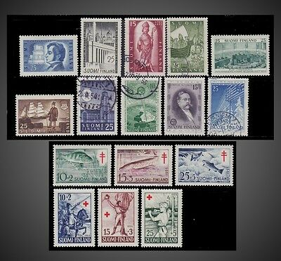 1955 Finland Year + Tuberculosis + Red Cross Sct.325-331,332-34 B129 To B134