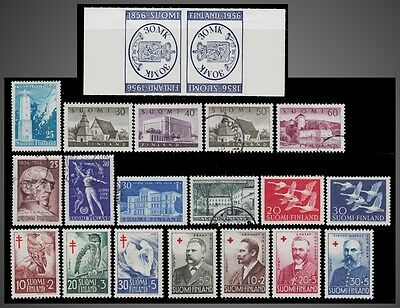 1956 Finland Year + Tuberculosis + Red Cross Sct. 335 -345 B135 To B141