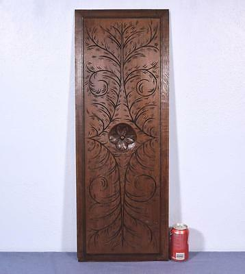 *French Antique Breton Hand Carved Architectural Panel Solid Chestnut Wood 1