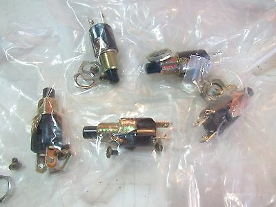 (5) EATON Push Button Switches 1/4 Amp 250V, 3/4 Amp 125V    7C