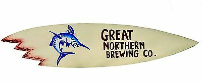 Surfboard Great Northern Brewing Bierwerbung Deko Surfbrett Brauerei Schild