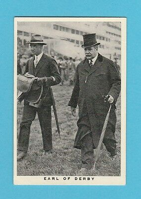 Horse Racing - Wills - Scarce Horse Racing Card  -  Earl  Of  Derby  -  1937