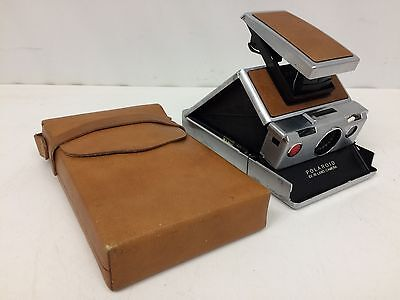 Vintage Polaroid SX 70 Land Camera w/ Leather Carrying Case