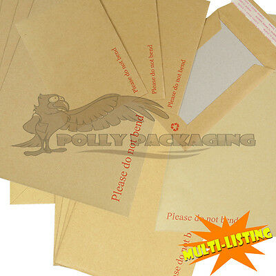 Strong Hard Board Back Manila Envelopes Do Not Bend A3 A4 A5 A6 Sizes *quality*