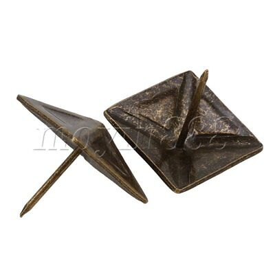 10 x Bronze Furniture Decorative Nails Upholstery Tacks Square Studs 30x30mm