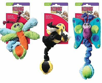 Kong Kitten Fuzz Bugs Catnip Infused Rattling Crinkly Toy Teaser