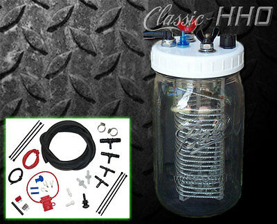 Classic-HHO 1-Cell Hydrogen Generator Kit - Gas or Diesel Engine. Great Starter!