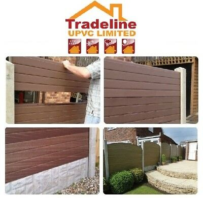 Upvc Composite  Fencing Panels That Fit Into Your Existing Concrete Posts