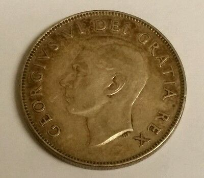 1950 Canada 50 Cents Coin (80% Silver) - King George VI