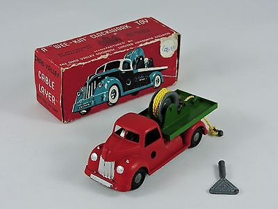 Cable Layer truck Chad Valley Wee-Kin clockwork toy die-cast metal wind-up 1950s