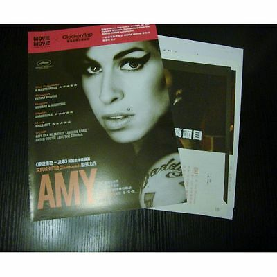 AMY amy winehouse 1 movie flyer & 4 Hong Kong magazine AD clippings