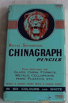 Vintage Pencil Tin Royal Sovereign
