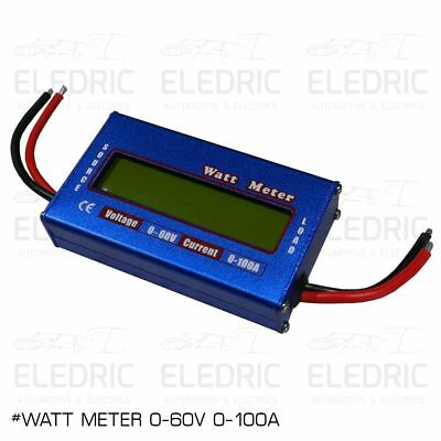 12V Battery Solar Watt Meter Voltage & Current Caravan 4x4 Camping 4WD Boat