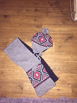 Boys Thick Warm Hat & Scarf Set 4-8 Yrs  New ...lovely.