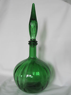 Green Genie Bottle Decanter With Stopper
