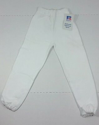 Russell Athletic Youth Vintage Sweatpants White NWT