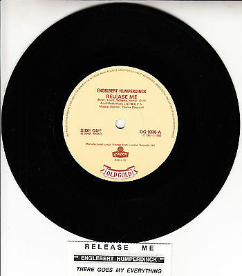 """ENGELBERT HUMPERDINCK  Release Me & There Goes My Everything 7"""" 45 rpm record"""