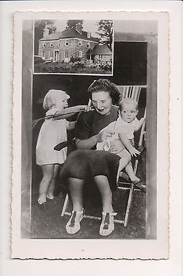 Vintage Postcard Queen Juliana of the Netherlands & Family