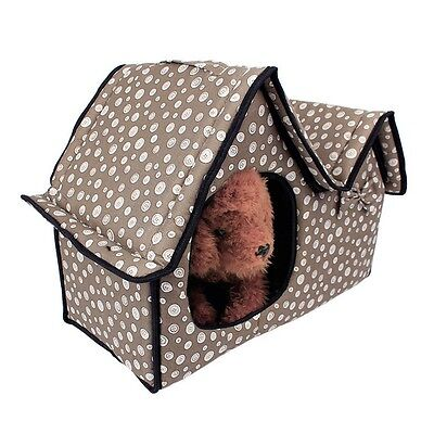 Hot Pet House Double Roof Thermal Dog Cat Kennel  Indoor Cave Bed Sleeping Mat
